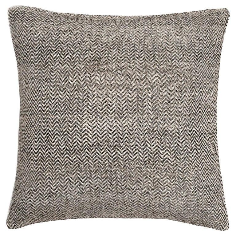 """Ben Soleimani Chevron Pillow - Graphite 26""""x26"""" For Sale"""