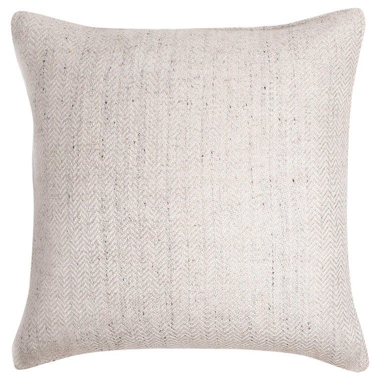 "Ben Soleimani Chevron Pillow - Ivory 22""x22"" For Sale"