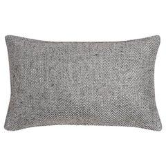 "Ben Soleimani Chevron Pillow - Silver 13""x21"""