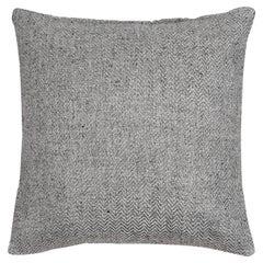 "Ben Soleimani Chevron Pillow - Silver 26""x26"""