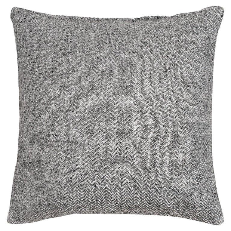 "Ben Soleimani Chevron Pillow - Silver 26""x26"" For Sale"