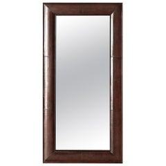 Ben Soleimani Clove Wall Mirror in Leather - Camel