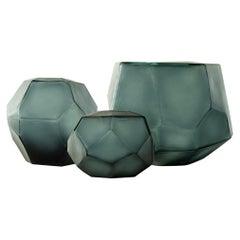 Ben Soleimani Darya Glass Vase in Ocean Blue - Medium