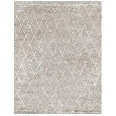 Ben Soleimani Daya Rug– Moroccan Ultra-plush Soft Silver Mist 12'x15'