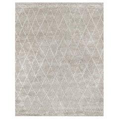 Ben Soleimani Daya Rug– Moroccan Ultra-plush Soft Silver Mist 10'x14'