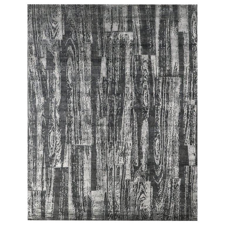 For Sale: Gray (Desmi Graphite) Ben Soleimani Desmi Rug 9'x12'