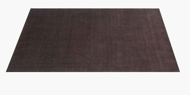 For Sale: Brown (Distressed Wool Espresso) Ben Soleimani Distressed Wool Rug 8'x10' 2