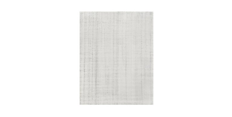 For Sale: Multi (Distressed Wool Ivory/Charcoal) Ben Soleimani Distressed Wool Rug 8'x10' 2