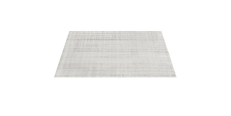 For Sale: Multi (Distressed Wool Ivory/Charcoal) Ben Soleimani Distressed Wool Rug 8'x10' 3