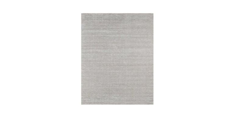 For Sale: Silver (Distressed Wool Platinum) Ben Soleimani Distressed Wool Rug 8'x10' 2