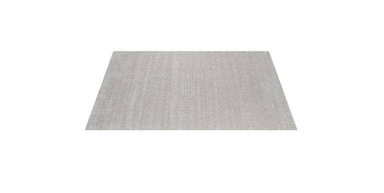 For Sale: Silver (Distressed Wool Platinum) Ben Soleimani Distressed Wool Rug 8'x10' 3