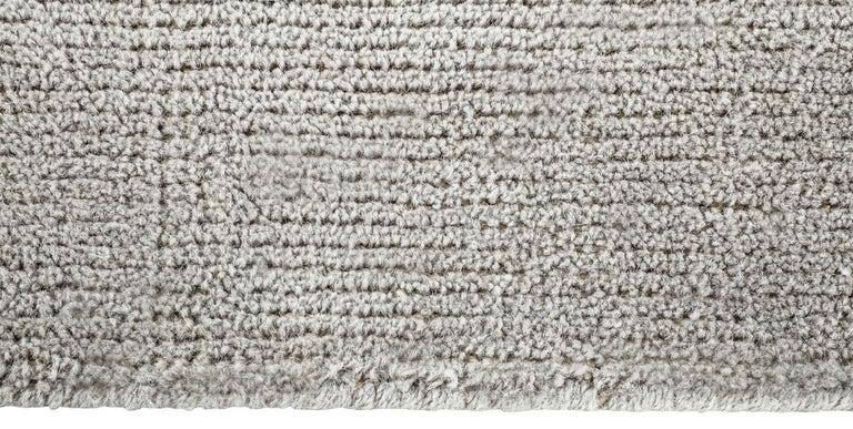 For Sale: Silver (Distressed Wool Platinum) Ben Soleimani Distressed Wool Rug 8'x10' 4
