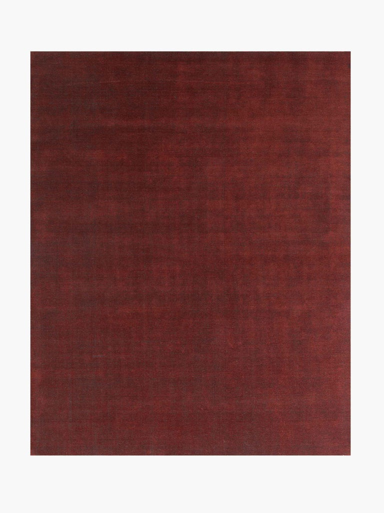 For Sale: Red (Distressed Wool Amber) Ben Soleimani Distressed Wool Rug 8'x10' 2