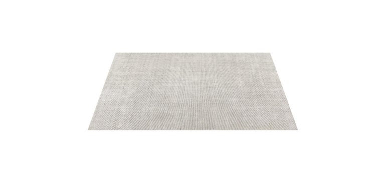 For Sale: Silver (Distressed Wool Silver) Ben Soleimani Distressed Wool Rug 8'x10' 4