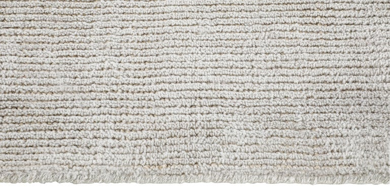 For Sale: Silver (Distressed Wool Silver) Ben Soleimani Distressed Wool Rug 8'x10' 3