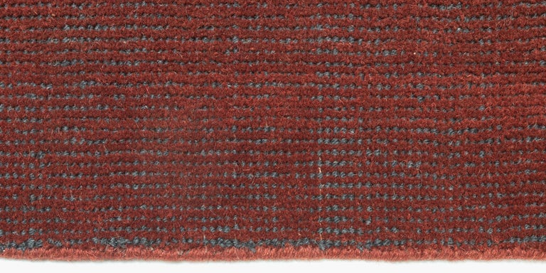 For Sale: Red (Distressed Wool Amber) Ben Soleimani Distressed Wool Rug 8'x10' 3