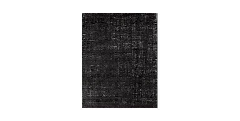 For Sale: Black (Distressed Wool Black) Ben Soleimani Distressed Wool Rug 8'x10' 2
