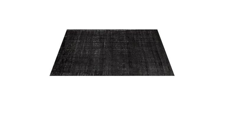 For Sale: Black (Distressed Wool Black) Ben Soleimani Distressed Wool Rug 8'x10' 3