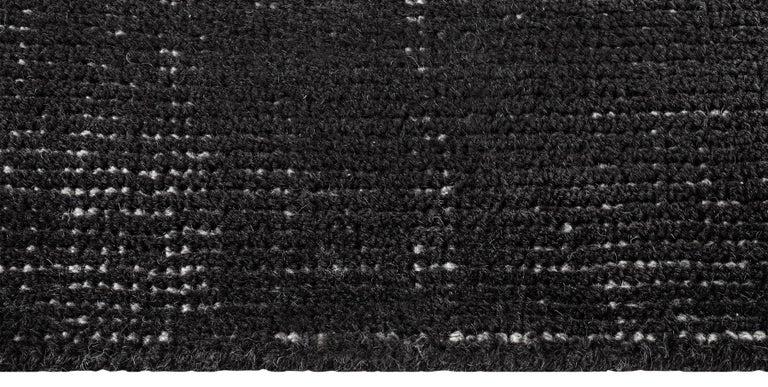 For Sale: Black (Distressed Wool Black) Ben Soleimani Distressed Wool Rug 8'x10' 4