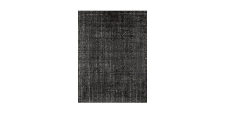 For Sale: Gray (Distressed Wool Charcoal) Ben Soleimani Distressed Wool Rug 8'x10' 2