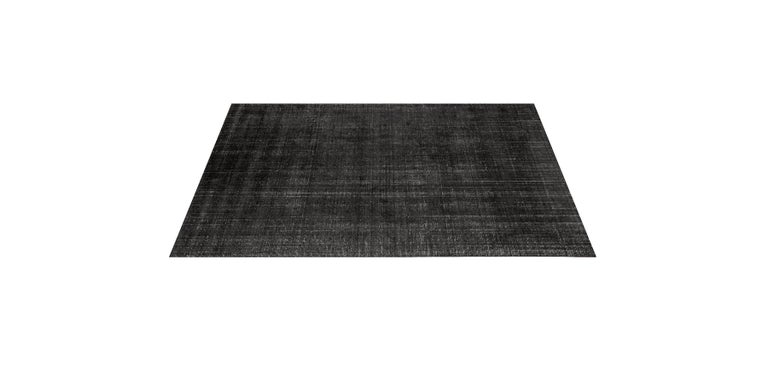 For Sale: Gray (Distressed Wool Charcoal) Ben Soleimani Distressed Wool Rug 8'x10' 3