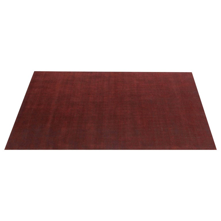 For Sale: Red (Distressed Wool Amber) Ben Soleimani Distressed Wool Rug 8'x10'