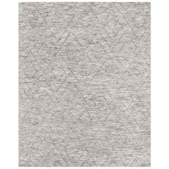 Ben Soleimani Double Diamond Rug– Moroccan Hand-knotted Wool Grey 12'x15'
