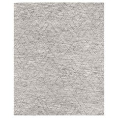 Ben Soleimani Double Diamond Rug– Moroccan Hand-knotted Wool Grey 6'x9'