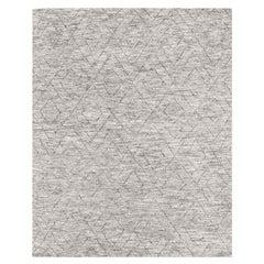 Ben Soleimani Double Diamond Rug– Moroccan Hand-knotted Wool Grey 8'x10'