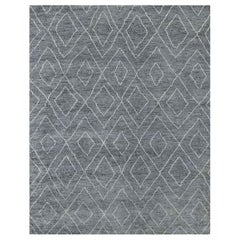 Ben Soleimani Double Diamond Moroccan Rug - Grey / White 6'x9'