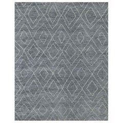 Ben Soleimani Double Diamond Moroccan Rug - Grey / White 8'x10'