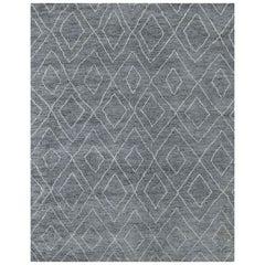 Ben Soleimani Double Diamond Moroccan Rug - Grey / White 9'x12'