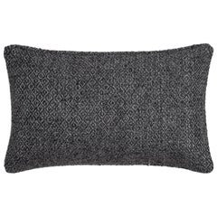 "Ben Soleimani Double Diamond Pillow Cover - Charcoal 13""x21"""