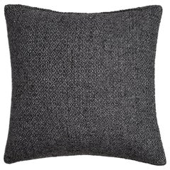 "Ben Soleimani Double Diamond Pillow Cover - Charcoal 22""x22"""