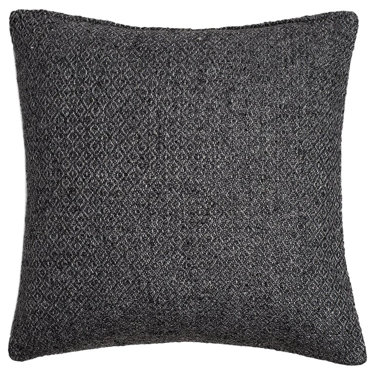 """Ben Soleimani Double Diamond Pillow Cover - Charcoal 22""""x22"""" For Sale"""