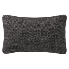 "Ben Soleimani Double Diamond Pillow Cover - Espresso 13""x21"""