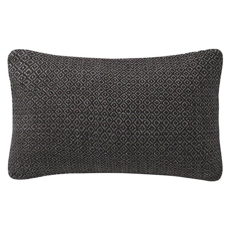 """Ben Soleimani Double Diamond Pillow Cover - Espresso 13""""x21"""" For Sale"""