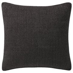 "Ben Soleimani Double Diamond Pillow Cover - Espresso 26""x26"""