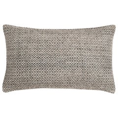 "Ben Soleimani Double Diamond Pillow Cover - Graphite 13""x21"""