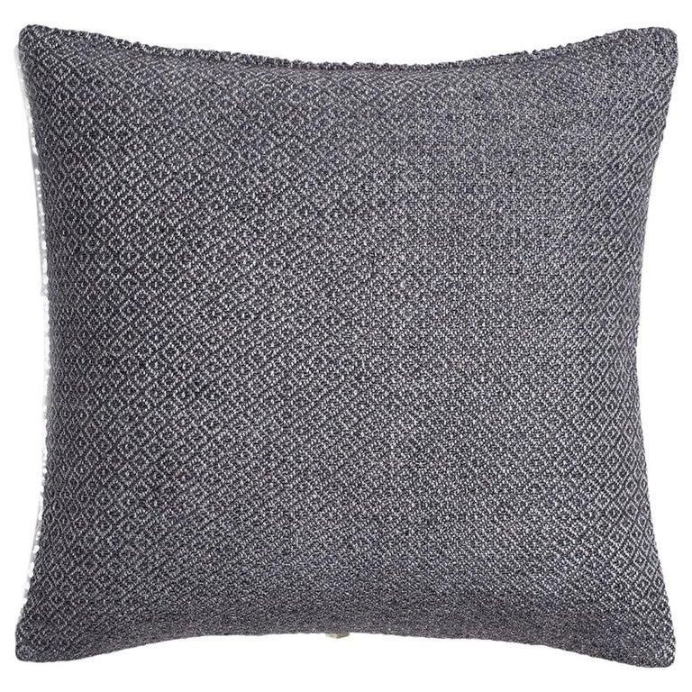 "Ben Soleimani Double Diamond Pillow Cover - Indigo 22""x22"" For Sale"