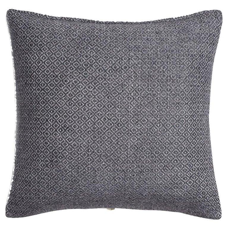 "Ben Soleimani Double Diamond Pillow Cover - Indigo 26""x26"" For Sale"