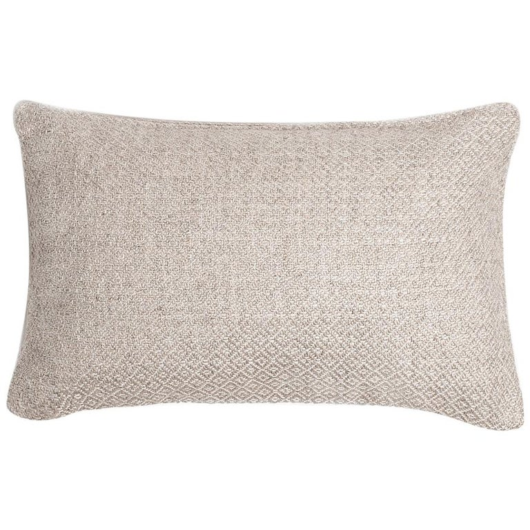 """Ben Soleimani Double Diamond Pillow Cover - Ivory 13""""x21"""" For Sale"""