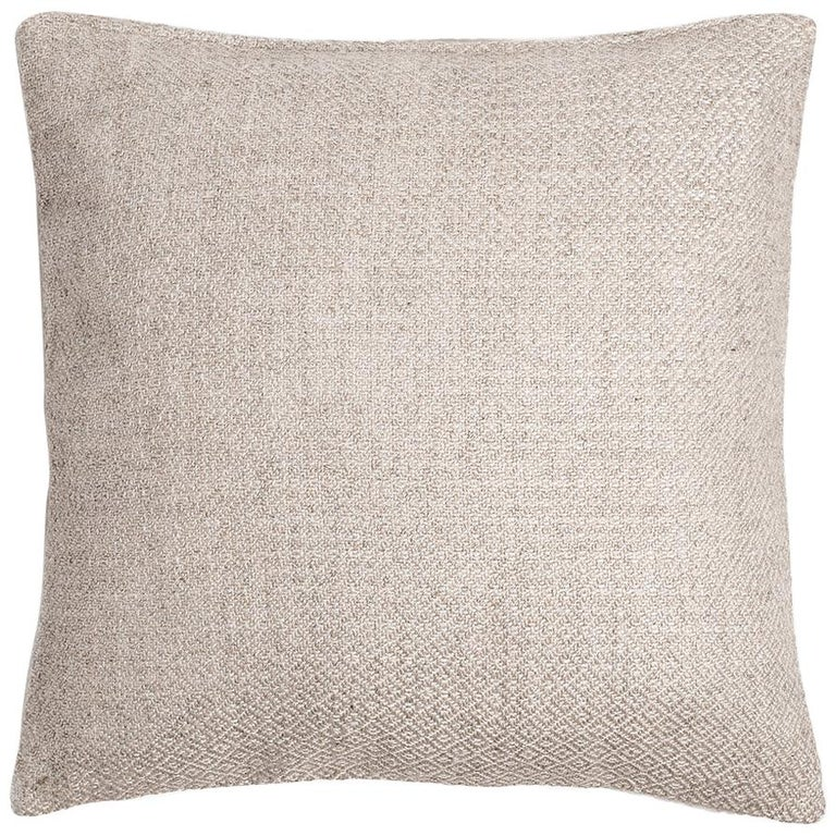 """Ben Soleimani Double Diamond Pillow Cover - Ivory 26""""x26"""" For Sale"""