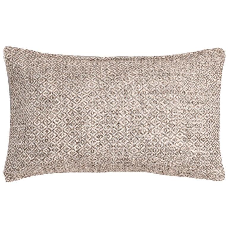"Ben Soleimani Double Diamond Pillow Cover - Sand 13""x21"" For Sale"