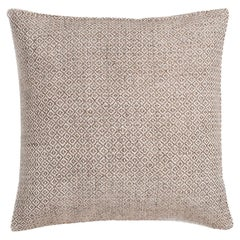 "Ben Soleimani Double Diamond Pillow Cover - Sand 22""x22"""