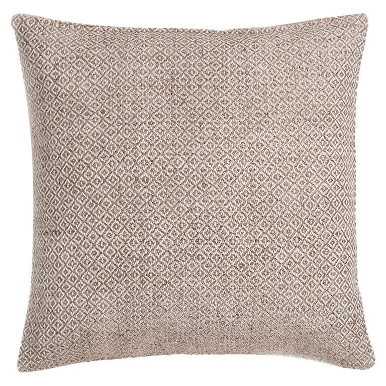 "Ben Soleimani Double Diamond Pillow Cover - Sand 22""x22"" For Sale"