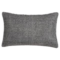 "Ben Soleimani Double Diamond Pillow Cover - Silver 13""x21"""