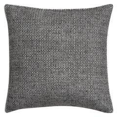 "Ben Soleimani Double Diamond Pillow Cover - Silver 22""x22"""