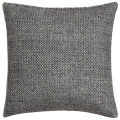 "Ben Soleimani Double Diamond Pillow Cover - Silver 26""x26"""
