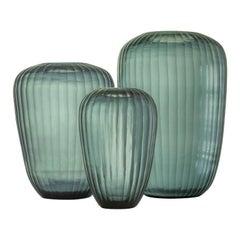 Ben Soleimani Grove Glass Vase in Indigo - Medium